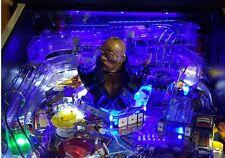 Sega Frankenstein pinball playfield lumière mod bleu