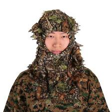 Camo Green Leafy Head Net Face Mask Cammo Headnet Hunting Camouflage A7T8
