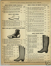 1892 PAPER AD Vintage Baseball Canvas Shoes High Tops Dom Pedros Railroader Boot