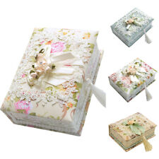 IA- FT- Kids Girl Flower Lace Jewelry Storage Container Necklace Ring Organizer