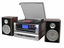 Steepletone Metro 6-in-1 Music Centre Record Player to CD Burner CD to CD,mp3