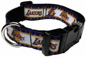 LOS ANGELES LAKERS DOG COLLAR OR ADD MATCHING LEASH