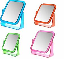 Free Standing Rectangle Double Sided Mirror Magnifying Makeup Mirror Desk Travel