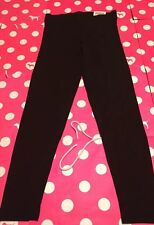 NEW Victoria's Secret PINK Yoga Leggings Cotton BLACK M Medium EveryDay Hot Gift