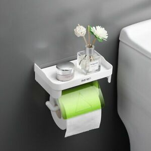 Toilet Paper Holder Bathroom Tissue Wall Mounted Roll Rack Storage With Cover