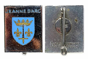 Insigne Marine Batiments- JEANNE d'ARC, Croiseur. Email, ABPD+pastille AB