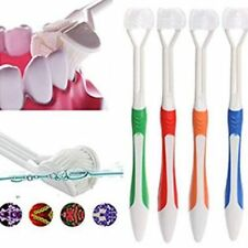 New 3 Sided Toothbrush Special Needs For Adults 4 Colors Random Tooth Cleaners