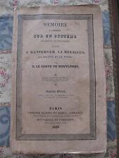 1826 Mémoire sur système religieux et politique renverser la religion Montlosier