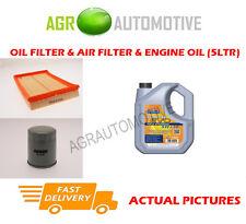 OLIO BENZINA FILTRO ARIA KIT + Ll 5W30 Olio per Vauxhall Tigra 1.8 125 CV 2004-09