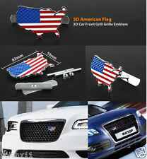 3D USA United State Metal Grill Boot Front Bonnet Hood Badge New Emblem Tuning