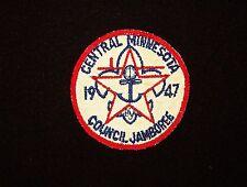 BOY SCOUT   CENTRAL MINNESOTA CNCL  1947  COUNCIL JAMBOREE