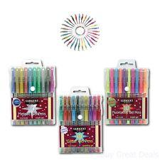 Art Gel Pen Set Pack Of 30 Glitter Fluorescent Metallic Pens School Art Supplies