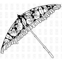 UMBRELLA - Cling Stamp 9 x 6.5cm - Papre Parachute - PRIMA