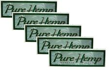 PURE HEMP Cigarette ROLLING PAPERS 1 1/4 - 5 Booklets USA Seller Fast Shipping