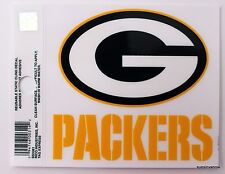 New Window Static Cling Green Bay Packers NFL Football Licensed Fan League Sport