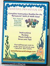SOAP ART BOOK on Disc for Melt+Pour soaps, recipes, gemstone Soap Art, ideas