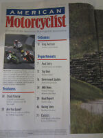 American Motorcyclist Magazine August 1999 Guide to insurance basics