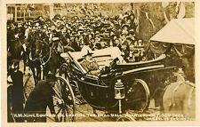 NORWICH(Norfolk) : Royal Visit 1909 . King leaving Drill Hall RP-JARROLDS