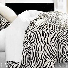 SATIN Quilt Cover King Size Doona Luxury Silk Feel Zebra Animal Print Bed Linen