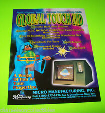 GLOBAL TOUCH HD By MICRO ORIGINAL NOS VIDEO ARCADE GAME MACHINE SALES FLYER