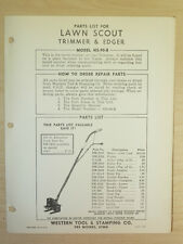 Western Tool Lawn Scout Power Edger-Trimmer, Parts Manual Ns- 90B