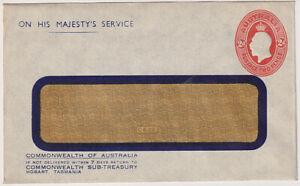 AUSTRALIA 1930s: unused stamped-to-order OHMS envelope w/ 2d KGV indicium (580)