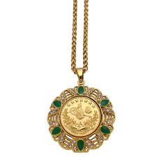 islam Arab Coin Gold Color Turkey Coins crystal 60 cm Necklace muslim Ottoman