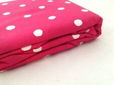 Full Magenta Red Round Dot Comforter Duvet Cover Company Store Cotton Pink