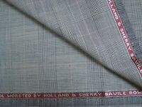 "2.38 yd HOLLAND SHERRY WOOL FABRIC Cool Wool Super 100s 7.5 oz SUITING 86"" BTP"
