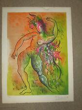 Litho LUDMILLA TCHERINA ( 1924/2004) Danseuse, 65 x 48cm, N° et signée