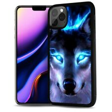 ( For iPhone 11 ) Back Case Cover AJ12433 Night Wolf