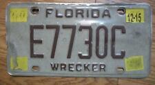 SINGLE FLORIDA LICENSE PLATE - 2015 - E7730C - WRECKER