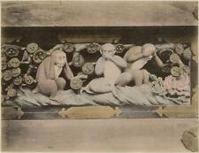 Photo Albuminé Japon Japan Singes de la SagesseVers 1880