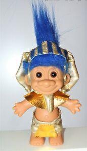 Rare RUSS Vintage Pharaoh King Tut TROLL DOLL, Blue Hair