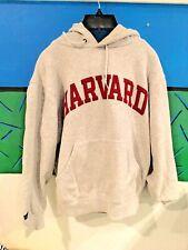 Jansport HARVARD gray size S hooded sweatshirt stitches raised letters