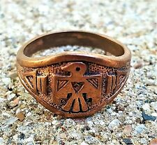 Hand Crafted Copper Ring~Native American Thunderbird N/S ~Copper Healing Effect
