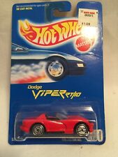 1991 Hot Wheels Blue Card #210 Silver Medal Speed Dodge Viper Rt/10 Red Diecast