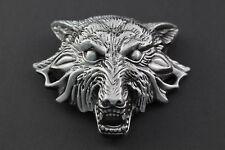 LARGE 3D EVIL WOLF HEAD  METAL BELT BUCKLE