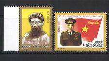 Vietnam 2017 Van Tien Dung & Phan Boi Chau Birth Anniv Set of 2 Stamps Mint MUH