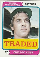 FREE SHIPPING-MINT-1974 Topps #249T George Mitterwald  Cubs