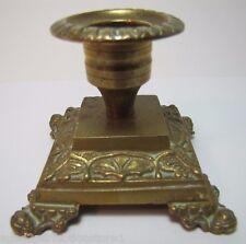 Antique Brass Candlestick fine ornate scrollwork dtl brass bronze candle holder