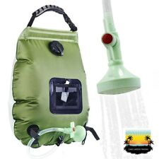 Solar Heated Shower Kit for Camping (20L) Portable Hot water system, 45 Degrees