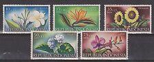 Indonesia Indonesie 204 - 208 MNH PF 1957 Bloemen, flowers