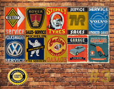 Job Lot 10 x METAL TIN SIGN WALL PLAQUE VINTAGE STYLE GARAGE WORKSHOP  #3