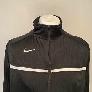 Nike Tracksuit Jacket Top Men's Black White Size Medium