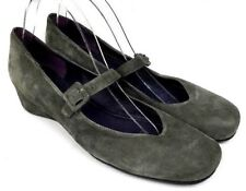 VANELI Gray Suede Mary Jane Low Wedge Women's Shoes Sz 11N