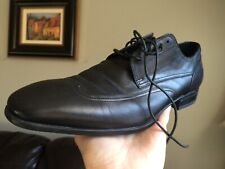 HUGO BOSS men shoes sz 7.5 black leather 50234067 Oxfords Stylish