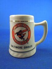 Vintage 1950s Baltimore Orioles Baseball Miniature 3 Inch Stein Mug Ceramic