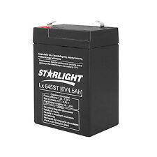 Batterie Gel 6V 4,5Ah Rechargeable AGM sans entretien Starlight