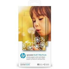 HP Sprocket Studio Photo Paper and Cartridges | 4x6 Inch Format | 80 Sheets